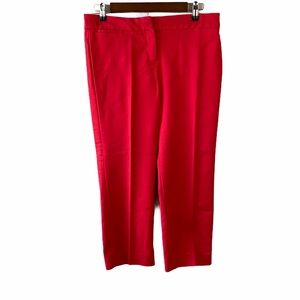 Sandro Studio Women's Red Cropped Ankle Pants 6